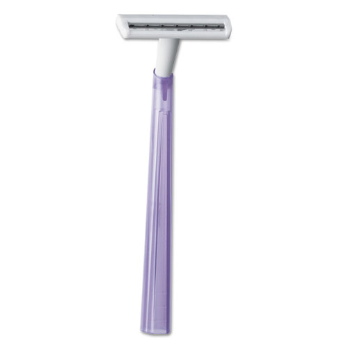 Image for Silky Touch Women's Disposable Razor, 2 Blades, Assorted Colors, 10/pack