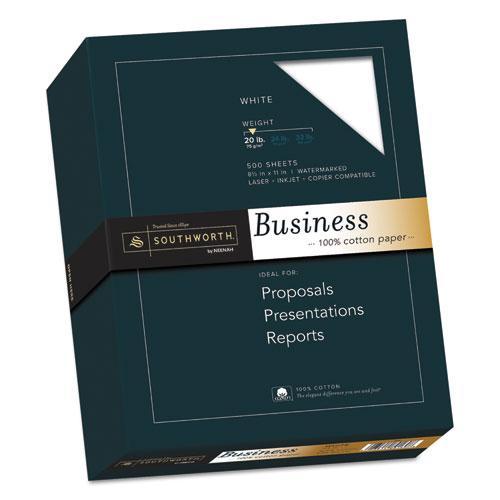 Image for 100% COTTON BUSINESS PAPER, 95 BRIGHT, 20 LB, 8.5 X 11, WHITE, 500/REAM
