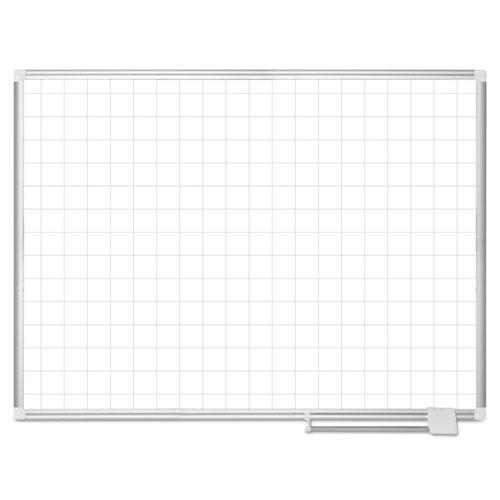 Platinum Plus Magnetic Porcelain Dry Erase Board, 2 X 2 Grid, 48 X 36, Aluminum
