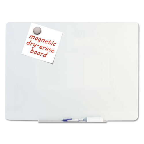 Magnetic Glass Dry Erase Board, Opaque White, 60 X 48