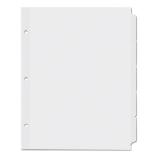 SELF-TAB INDEX DIVIDERS, 5-TAB, 11 X 8.5, WHITE, 36 SETS