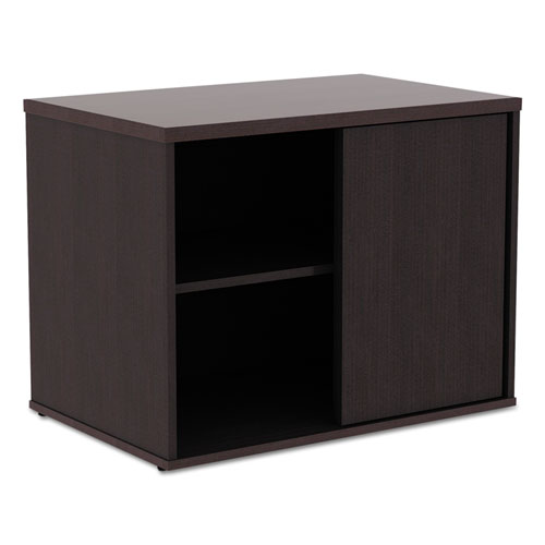 Image for Alera Open Office Low Storage Cab Cred, 29 1/2w X 19 1/8d X 22 7/8h, Espresso