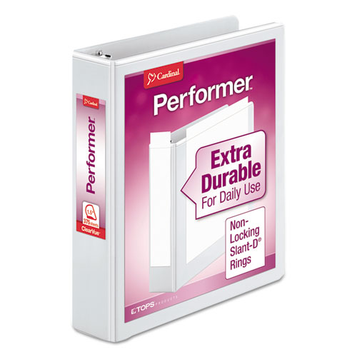 PERFORMER CLEARVUE SLANT-D RING BINDER, 3 RINGS, 1.5