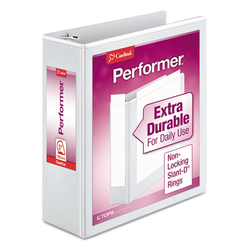 PERFORMER CLEARVUE SLANT-D RING BINDER, 3 RINGS, 3