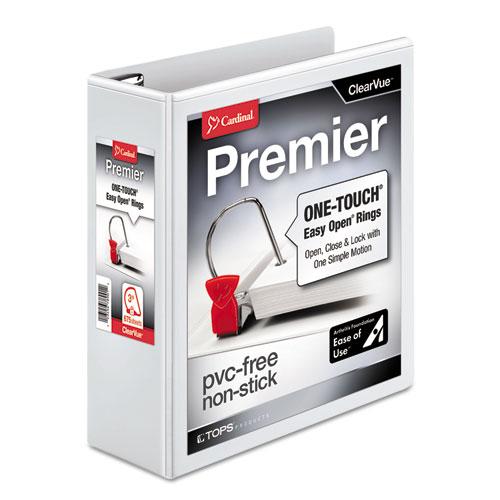 PREMIER EASY OPEN CLEARVUE LOCKING SLANT-D RING BINDER, 3 RINGS, 3