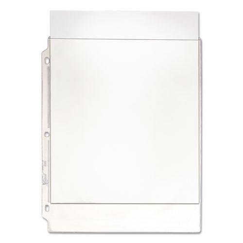 Top-Load Poly/vinyl Three-Hole Sheet Protectors, Heavy Wt, Letter, 50/box