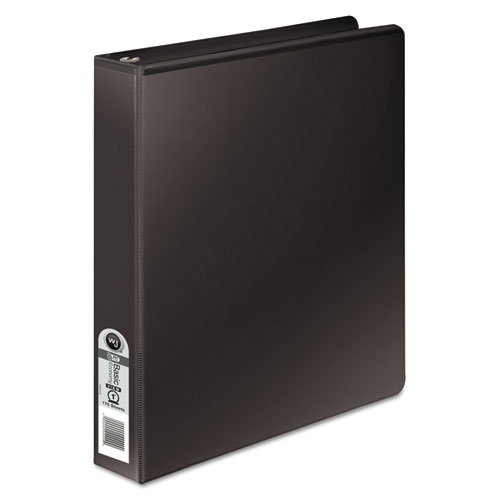 Wilsonjnes 362 Basic Round Ring View Binder, 1 Cap, Black