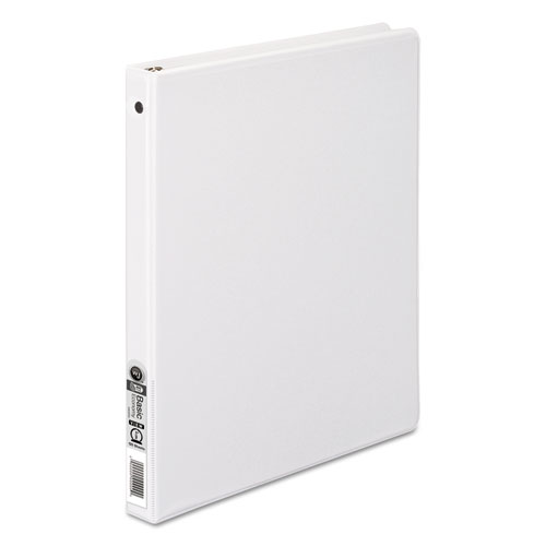 Wilsonjnes 362 Basic Round Ring View Binder, 1/2 Cap, White
