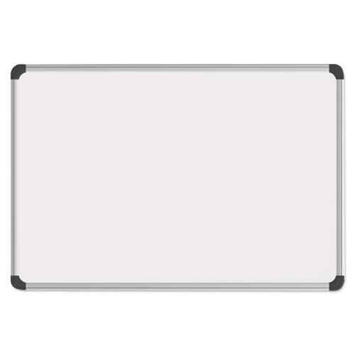 Magnetic Steel Dry Erase Board, 36 X 24, White, Aluminum Frame