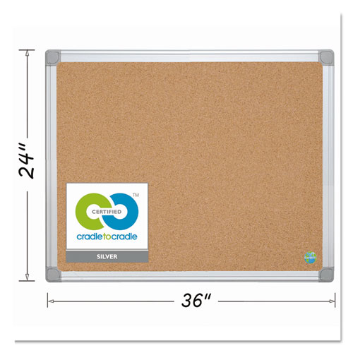 Earth Cork Board, 24 X 36, Aluminum Frame
