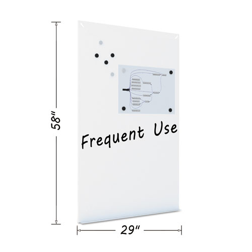 Magnetic Dry Erase Tile Board, 38 1/2 X 58, White Surface
