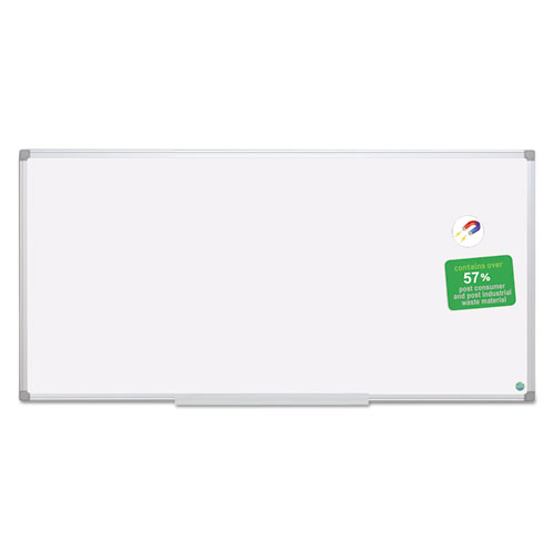 Earth Dry Erase Board, White/silver, 48 X 96