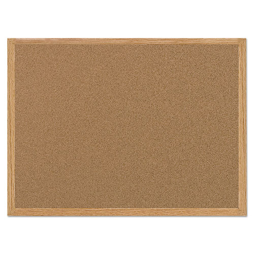 Value Cork Bulletin Board With Oak Frame, 36 X 48, Natural