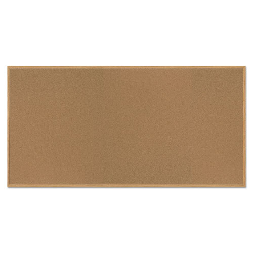 Value Cork Bulletin Board With Oak Frame, 48 X 96, Natural