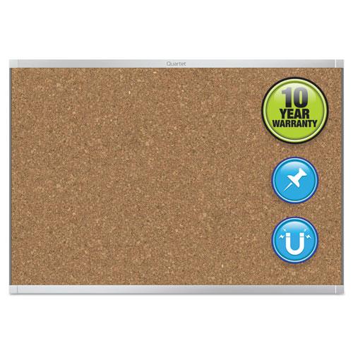 Prestige 2 Magnetic Cork Bulletin Board, 36 X 24, Aluminum Frame