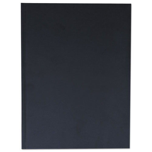 CASEBOUND HARDCOVER NOTEBOOK, WIDE/LEGAL RULE, BLACK COVER, 10.25 X 7.68, 150 SHEETS