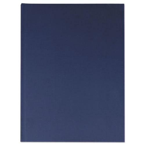 CASEBOUND HARDCOVER NOTEBOOK, WIDE/LEGAL RULE, DARK BLUE, 10.25 X 7.68, 150 SHEETS