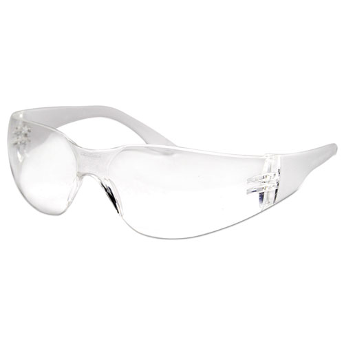 Safety Glasses, Clear Frame/clear Lens, Anti-Fog, Polycarbonate, Dozen