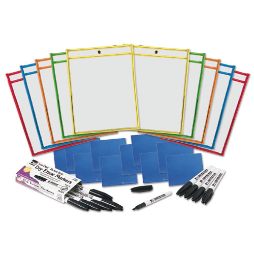 Charles Leonard, Inc Cli Dry-erase Pocket Class Pack - 10 / Set