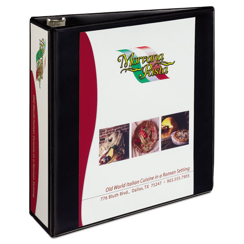 HEAVY-DUTY NON STICK VIEW BINDER WITH DURAHINGE AND SLANT RINGS, 3 RINGS, 3