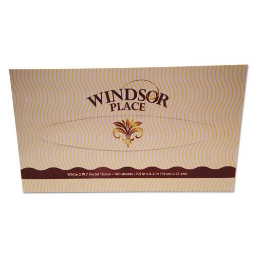 Image for WINDSOR PLACE FACIAL TISSUE, 2-PLY, 100 SHEETS/BOX, 30 BOX/CARTON