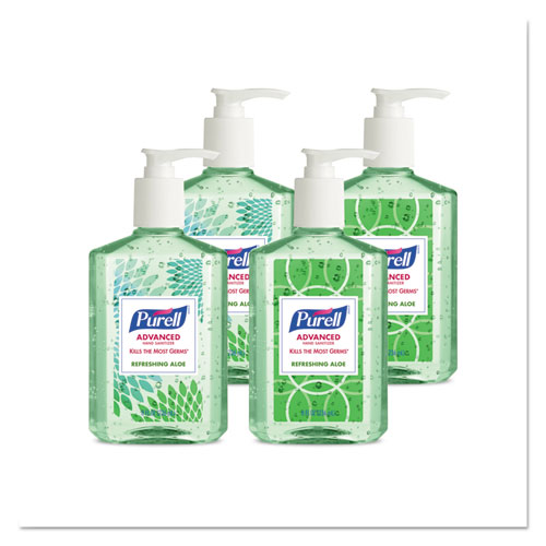 Purell Advanced Instant Hand Sanitizer With Aloe, 8 Oz Bottle, 24/carton