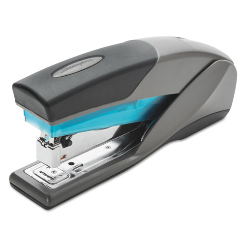 OPTIMA 25 REDUCED EFFORT STAPLER, 25-SHEET CAPACITY, SLATE GRAY/BLUE