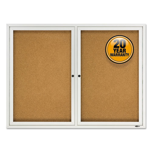 Enclosed Cork Bulletin Board, Cork/fiberboard, 48