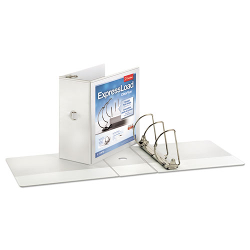EXPRESSLOAD CLEARVUE LOCKING D-RING BINDER, 3 RINGS, 5