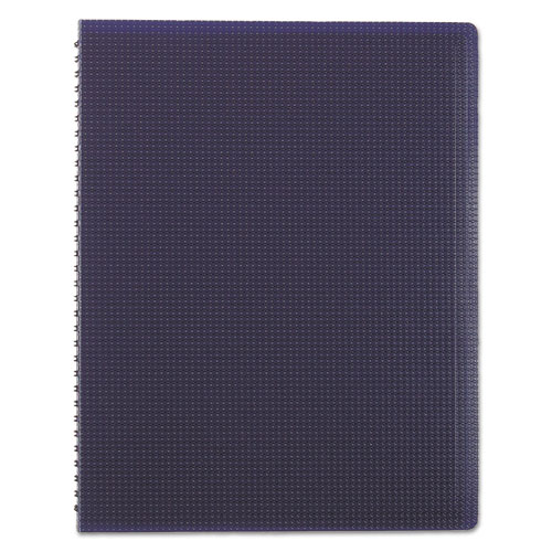 DURAFLEX POLY NOTEBOOK, 1 SUBJECT, MEDIUM/COLLEGE RULE, BLUE COVER, 11 X 8.5, 80 SHEETS