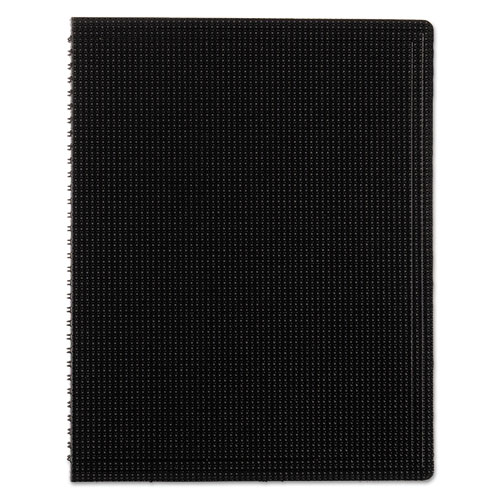 DURAFLEX POLY NOTEBOOK, 1 SUBJECT, MEDIUM/COLLEGE RULE, BLACK COVER, 11 X 8.5, 80 SHEETS