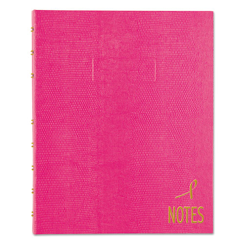 NOTEPRO NOTEBOOK, 1 SUBJECT, NARROW RULE, BRIGHT PINK COVER, 9.25 X 7.25, 75 SHEETS