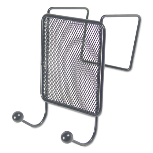 Image for Wire Mesh Partition Coat Hook, 4 1/8 X 6, Black