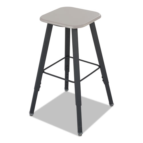 Image for ALPHABETTER ADJUSTABLE-HEIGHT STUDENT STOOL, SUPPORTS UP TO 250 LBS., BLACK SEAT/BLACK BACK, BLACK BASE