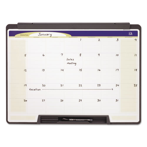 Motion Portable Monthly Calendar, Dry Erase, 24 X 18