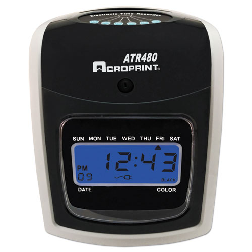 Image for Atr480 Time Clock Bundle, Lcd, Automatic, White/charcoal