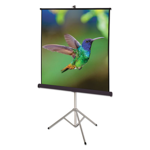Image for Portable Tripod Projection Screen, 60 X 60, White Matte, Black Steel Case