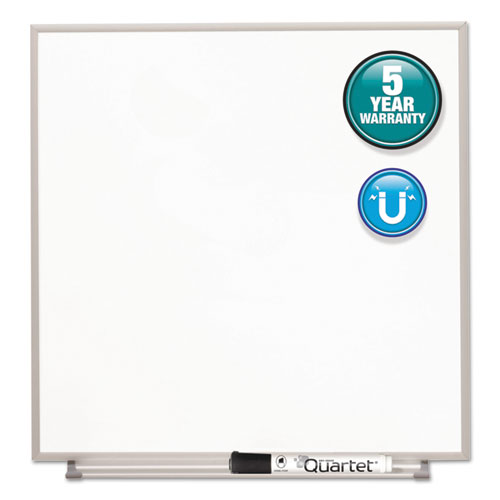 Matrix Magnetic Boards, Painted Steel, 23 X 23, White, Aluminum Frame