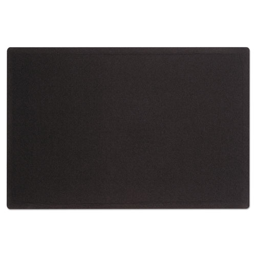 Oval Office Fabric Bulletin Board, 48 X 36, Black
