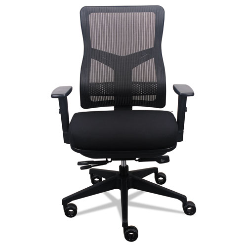 Image for 200 MESH-BACK MULTIFUNCTION CHAIR, SUPPORTS UP TO 250 LBS., BLACK SEAT/BLACK BACK, BLACK BASE