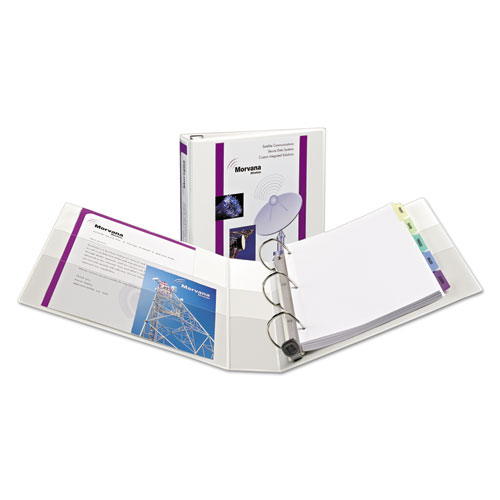 HEAVY-DUTY VIEW BINDER WITH DURAHINGE, ONE TOUCH EZD RINGS AND EXTRA-WIDE COVER, 3 RINGS, 1.5