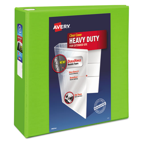 HEAVY-DUTY VIEW BINDER WITH DURAHINGE AND LOCKING ONE TOUCH EZD RINGS, 3 RINGS, 4