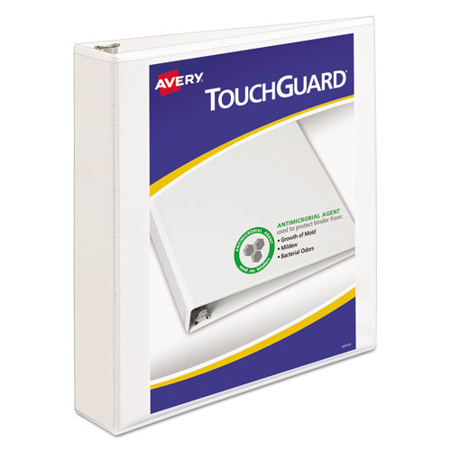 TOUCHGUARD PROTECTION HEAVY-DUTY VIEW BINDERS WITH SLANT RINGS, 3 RINGS, 1.5
