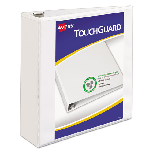 TOUCHGUARD PROTECTION HEAVY-DUTY VIEW BINDERS WITH SLANT RINGS, 3 RINGS, 3