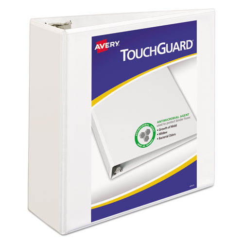 TOUCHGUARD PROTECTION HEAVY-DUTY VIEW BINDERS WITH SLANT RINGS, 3 RINGS, 4