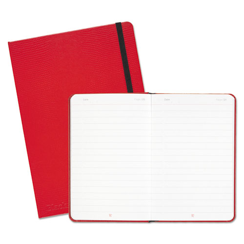 RED CASEBOUND HARDCOVER NOTEBOOK, WIDE/LEGAL RULE, RED COVER, 8.25 X 5.75, 71 SHEETS