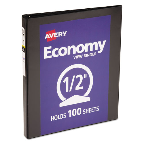 ECONOMY VIEW BINDER WITH ROUND RINGS , 3 RINGS, 0.5