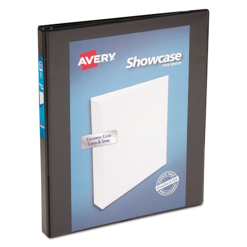 SHOWCASE ECONOMY VIEW BINDER WITH ROUND RINGS, 3 RINGS, 0.5