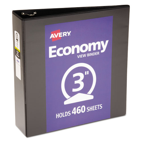 ECONOMY VIEW BINDER WITH ROUND RINGS , 3 RINGS, 3