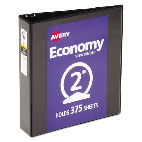 ECONOMY VIEW BINDER WITH ROUND RINGS , 3 RINGS, 2